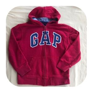 GAP Red Zip Up Hoodie Boys 8/M